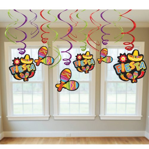 Fiesta Value Pack Hanging Swirl Decorations Party Accessory