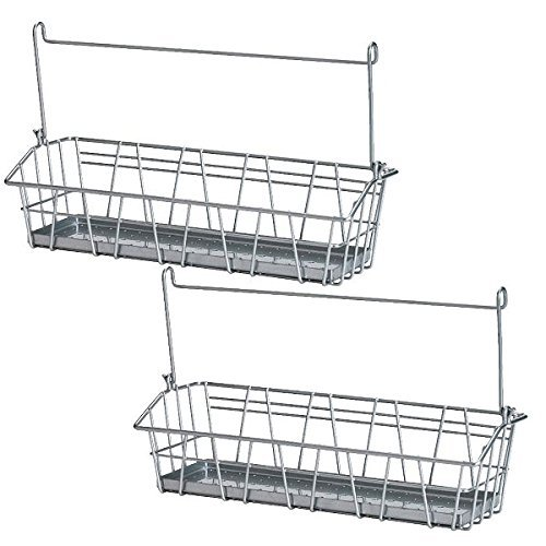 Set of 2 Ikea Steel Wire Basket Spice Rack Hang or Free Standing Kitchen Storage Holder