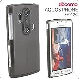 AQUOS PHONE SH-12Cケース クリアブラック