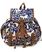 Ladies Vintage Owl/Polka Dots/Retro Aztec/Fox Print Canvas Large Rucksack/Backpack School Bag