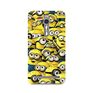 Mobicture Minion Cluster Premium Printed Case For Asus Zenfone 2