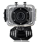 MAYMOC Sports Action Cam Camcorder Helmet Cameras 720P HD Waterproof 2 Inch Touch Screen with 8G TF Memory Card (black)