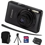 """Canon Digital IXUS 120 IS schwarz + Mega Zubeh�r ( 4GB + Tasche + 2Akkus + KFZ )von """"Technik Center Rosbach"""""""