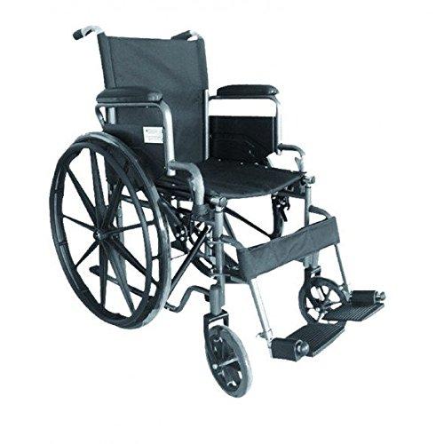 Carrozzina per disabili - Carrozzina per disabili - Sedia a rotelle pieghevole in acciaio autopropulsabile S220. Sedile 40 cm