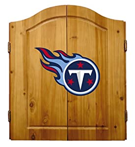 Buy NFL Tennessee Titans Solid Pine Cabinet And Bristle Dartboard Set by Imperial