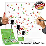 leinwand geburstagsbaum zahl 18 partyspiel fingerabdruckbaum erinnerung an die. Black Bedroom Furniture Sets. Home Design Ideas