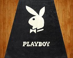 Homemusthaves Playboy 4X5.11 Feet Black White New Modern Contemporary Rug Carpet