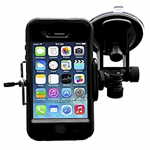 Smartphone - Cell Phone Windshield Car Mount Holder for iPhone SE 6S 6S Plus 6 6 Plus 5S 5C 5 4S 4 Samsung Galaxy S7 Edge S7 S6 S5 S4 S3 S2 and more by Davoice