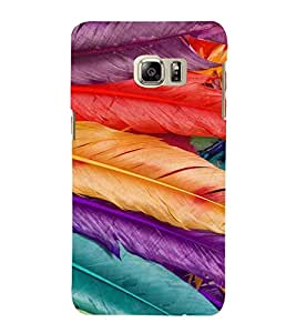 PrintVisa Feathers Pattern 3D Hard Polycarbonate Designer Back Case Cover for Samsung Galaxy S6 Edge+ Plus