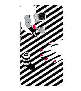 PrintVisa Fashion Nail Art Design 3D Hard Polycarbonate Designer Back Case Cover for Huawei Honor 5X