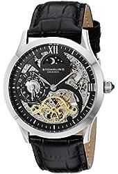 Stuhrling Original Men's 571.33151 Classic Winchester Tempest II Skeleton Black Dial Watch