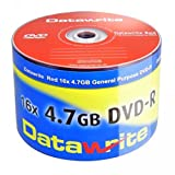 Datawrite Red DVD-R 120 min/4.7 GB 16x, 50-pack shrink-wrapped