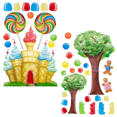 Candy buffet supplies jars containers scoops and more for Candy wall mural