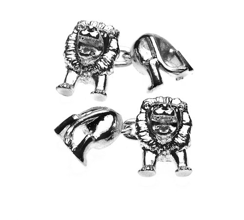 Christopher Simpson Silver Plated Lion Cufflinks