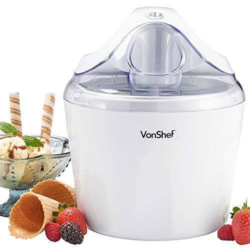 VonShef Ice Cream, Frozen Yogurt and Sorbet Maker Machine 1.5-QT (Ice Cream Frozen Yogurt Maker compare prices)
