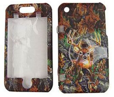 Apple iPhone 1G / 2G Hunter Series Camo Camouflage w/ Deer Hard Case/Cover/Faceplate/Snap On/Housing/Protector