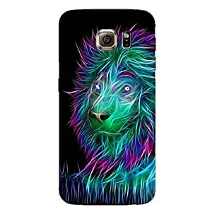 ABSTRACT LION BACK COVERFOR SAMSUNG S6