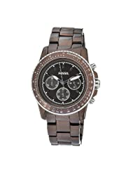 Fossil Womens CH2746 Quartz Chronograph Aluminum Brown Dial Watch
