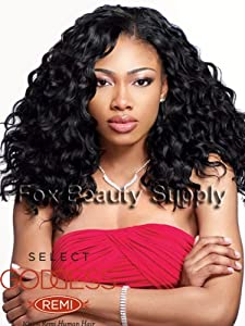 "HH REMI GLAM WVG 14"" - Sensationnel Goddess Select 100% Remi Human Hair Weave Extensions #1"