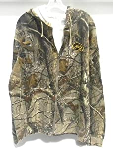 Iowa Hawkeyes Realtree Outfitters Camo Hooded Zip-Up Sweatshirt (Medium)