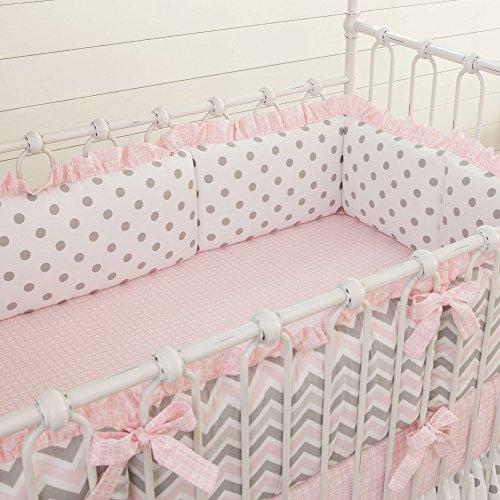Carousel Designs Pink and Gray Chevron Crib Bumper (Carousel Crib Bumper compare prices)