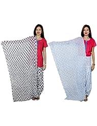 Indistar Women's Cotton Patiala Salwar With Dupatta Combo (Pack Of 2 Salwar With Dupatta) - B01HRK7YFO