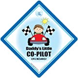 Daddys Little Co Pilot On Board Car Sign Daddys Co Pilot Baby on Board Sign Baby On Board Car Sign Baby Sign Baby Car Sign Dad Car Sign Bumper Sticker Racing Driver Sign Decal Bumper Sticker