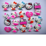 20 Hello Kitty Shoe Charm Fits Jibbitz Croc Shoes & Bracelets