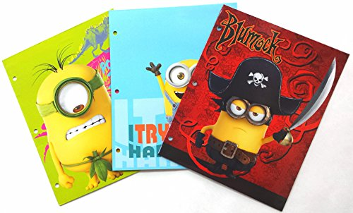 Despicable-Me-Minions-3-Ring-Pocket-Folders-Set-of-3-Assorted