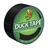 Duck Brand 1265013 Colored Duct Tape, Black, 1.88-Inch by 20 Yards, Single Roll
