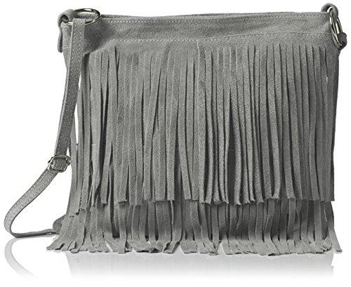 Girly Handbags Daniela, Grigio Grigio (Light Grey)