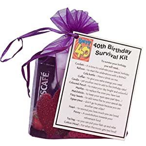 40th Birthday Survival Kit Novelty Gifts