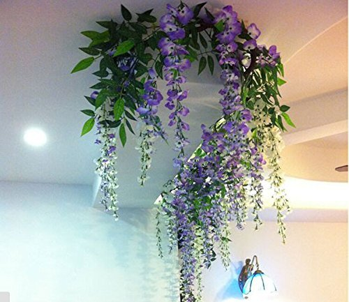3.4 Ft Artificial Wisteria Vine Silk Floral Decor Hanging