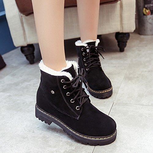 Frauen-Winter Schneeschuhe Martin Stiefel Zustrom von Frauen Stiefel Baumwolle gepolsterte Schuhe plus Samt britischen flache weibliche Stiefel Duantong