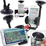 Glitzy Gizmos Universal Rotatable Car Windscreen Suction Mount/Air Vent Mount/Dashboard Mount Holder Cradle Suitable For LG Optimus One P500
