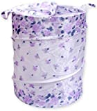 BMS Lifestyle 20 L Floral Print Laundry Basket Purple