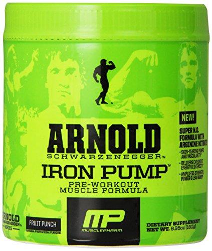 Muscle Pharm Arnold Schwarzenegger Series Iron Pump Pre-Workout Formula, Fruit Punch, 30 servings (Arnold Iron Pump Pre Workout compare prices)