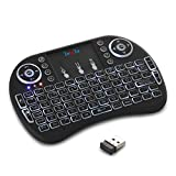FAVI Mini Bluetooth Keyboard with Laser Pointer and Backlit Keys (FE02BT-US15)