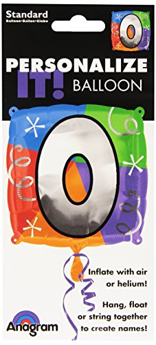 Anagram International Letter O/Number 0 Quad Package Balloon, 18""