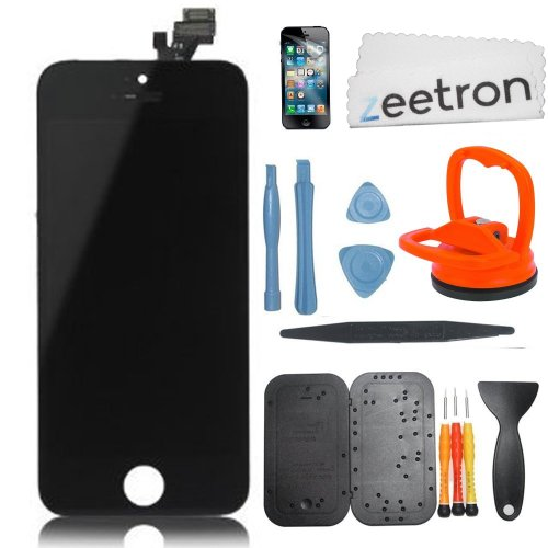 Zeetron Iphone 5 Retina Screen Repalcement Repair Assembly Do It Yourself Kit (Black)