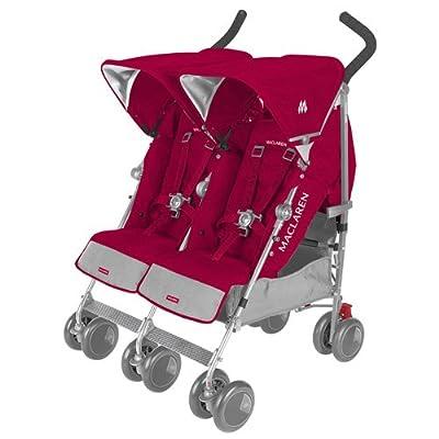 Maclaren Twin Techno Stroller Persian Rose - Best Double Umbrella Stroller