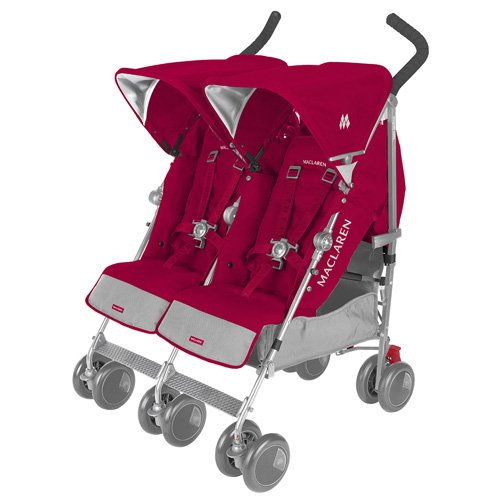 Maclaren Twin Techno Stroller Persian Rose Review - Double Umbrella Stroller Guide