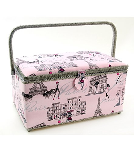 Purchase Dritz St Jane Extra Large Rectangle Sewing Basket (X-Large 15-1/4 x 10-1/4 x 8-3/4, Pink...