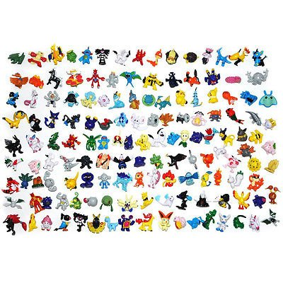 New Set of 144 Pcs CNFT Pokemon Action Figures 2-3 cm