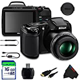 Nikon COOLPIX L340 Digital Camera (Black) + 16GB Pixi-Basic...