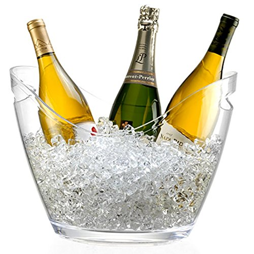 Seau à Champagne 3 Bouteilles - Pour Champagne, seau à glace - Transparent
