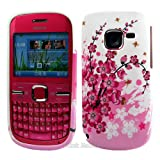 White Flora TPU Gel Case Cover For The Nokia C3 / C3-00