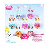 Claire's Accessories Girls Disney Palace Pets Heart Rings and Stick On Earrings Set of 7