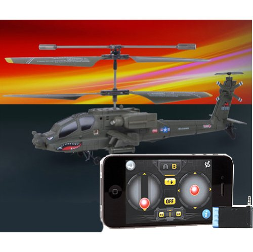 iPhone iPad Controlled Syma S109G -3 Channel RC Helicopter iCopter Mini Palm Size Apache AH-64 with Remote Controller