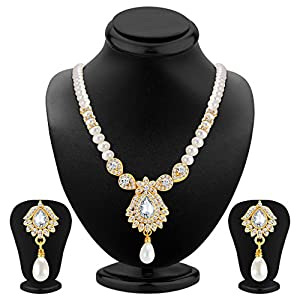 Sukkhi Ritzy Gold Plated AD Necklace Set